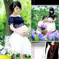 Adereços fotografia de vestidos vestido de renda Bra Chiffon roupas para mulheres grávidas gravidez foto bonito Sexy
