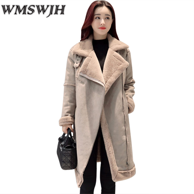 2018 New Fashion Warm Winter Jacket Women Coat Big Yards Long Coats Faux Suede