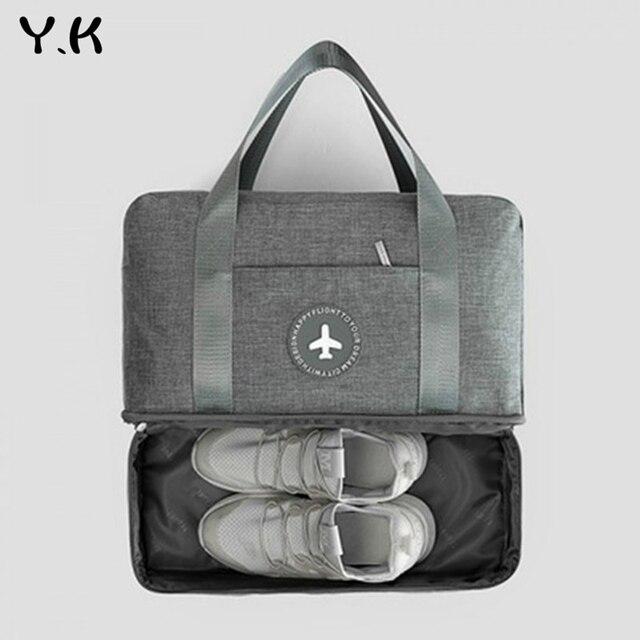 Y.K Ginásio À Prova D' Água Ao Ar Livre Sacos de Ombro Bolsas de Viagem Esportes Fitness Yoga Multifuncional com Espaço Separado Para Sapatos