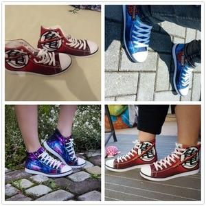 Image 4 - INSTANTARTS Dragon Z Ball Men High Top Canvas Shoes Cool Dragon Ball Super Blue Character Son Goku Vegeta Man Vulcanize Sneakers