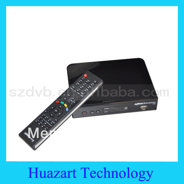 Hot Sell Azbox Bravissimo Satellite TV Receiver Twin Tuner +UAB WIfi Dongle+ Free IKS & SKS Support Nagra3 Linux OS For Brizal
