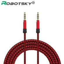 Jack 3.5mm Audio Cable Gold-plated head Male to Male Nylon Braid 3.5mm Jack Plug Audio AUX Cable For Ipod Headphone MP3(China)