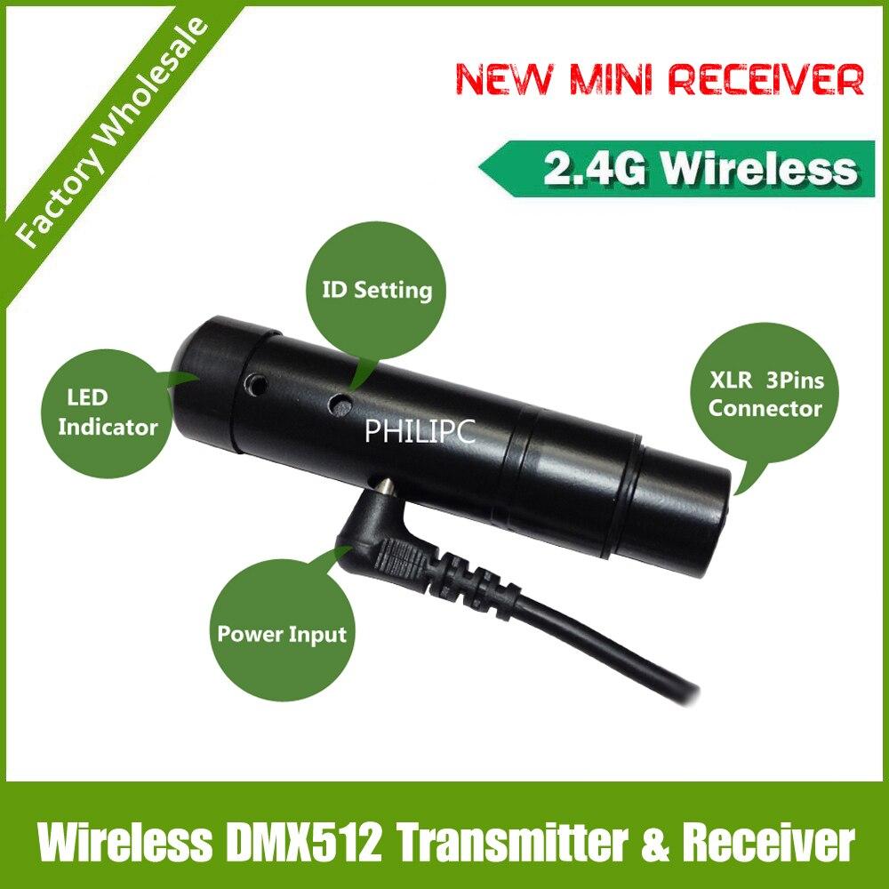 Envío de la venta caliente controlador DMX inalámbrico receptor inalámbrico DMX DJ de China proveedores de sistemas