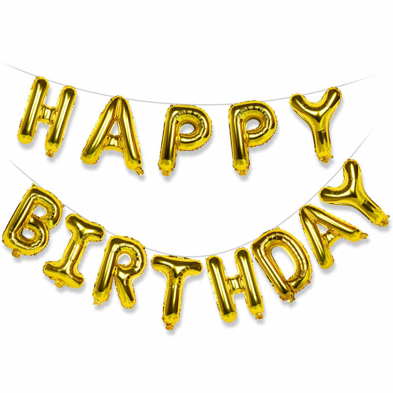 US $0 43 88% OFF|HAPPY BIRTHDAY Rose Gold Party Balloon Set 13 Letters Kids  Toy Alphabet Foil Balloon Confetti Latex Balloon Decorations JL0003-in