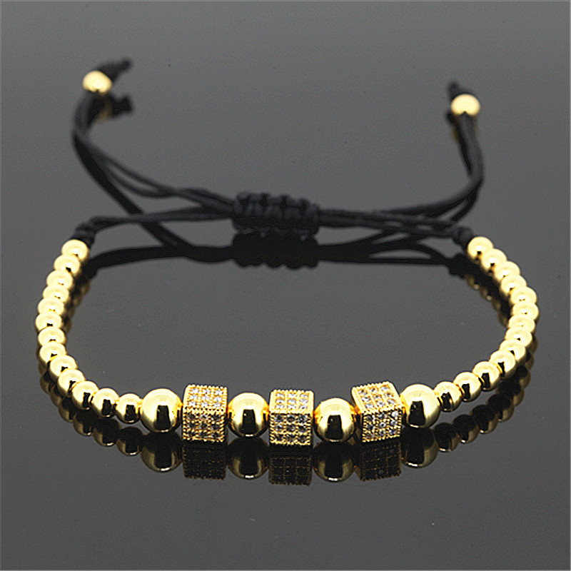 1PC Fashion Men Anil Arjandas Bracelet Micro Paved White CZ Braiding Men Macrame Bracelet for Men Jewelry A-0125