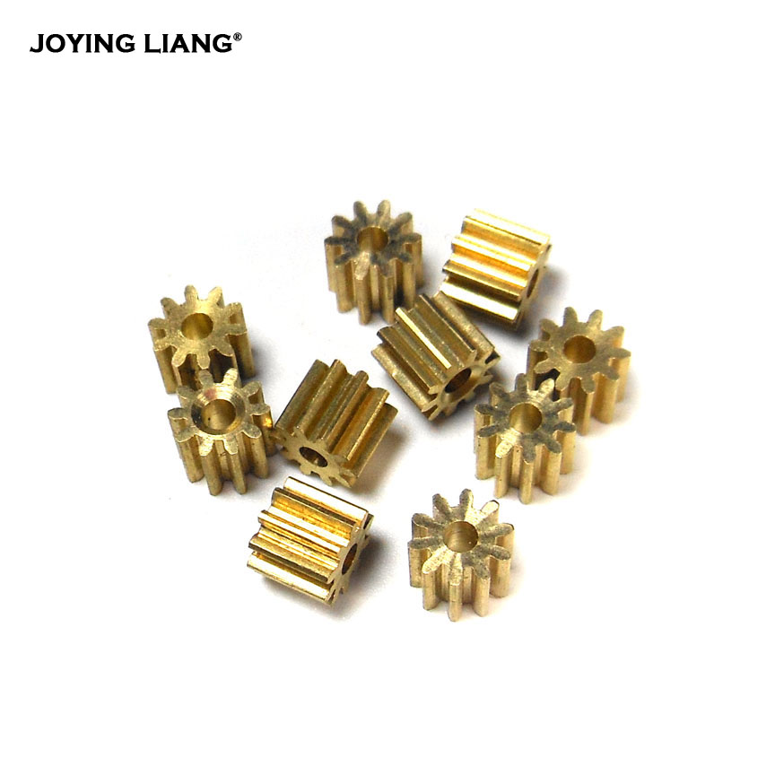 102A / 101.5A Metal Gears 0.4M 10 Teeth Hole 2mm / 1.5mm Small Module Gear Copper Pinion 10pcs/lot