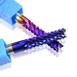 Image 5 - XCAN 1pc 4 millimetri/6 millimetri Gambo In Carburo di Tungsteno End di Fresatura Bit Nano Blu Rivestito End Mill per macchina per incisione PCB Fresa