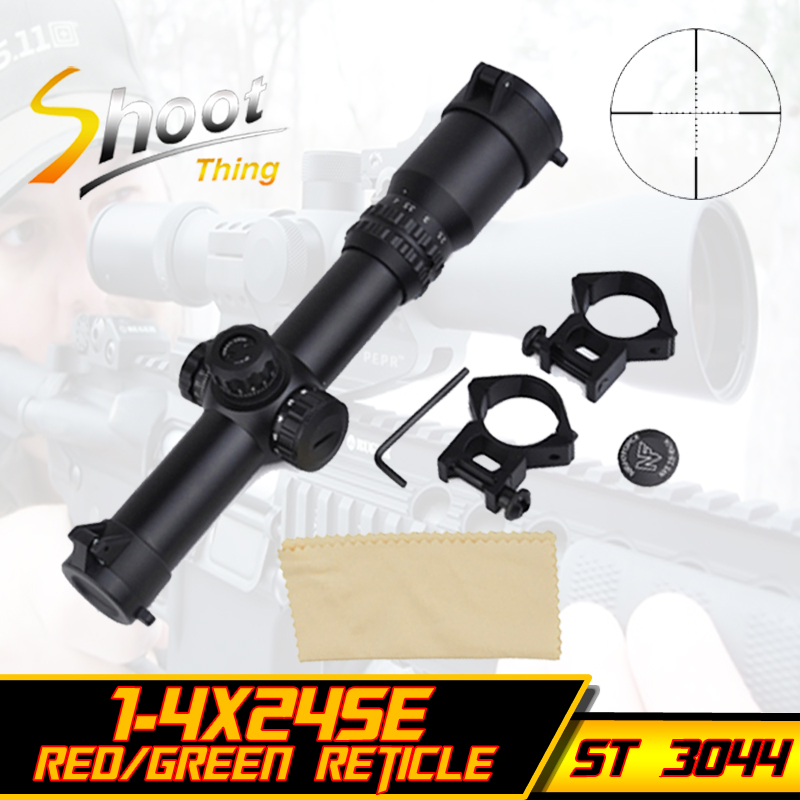 st 3044 scope sniper optical weapon sights red green reticle focus 3 nf style 1 4x24se tactical. Black Bedroom Furniture Sets. Home Design Ideas