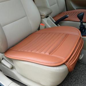 Image 3 - עור כרית מושב המכונית במבוק פחם אחת אוטומטי מושב כיסוי אוטומטי כריות מושב מכונית כרית רכב סטיילינג