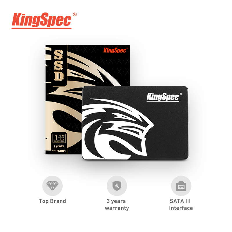 Kingspec SATA3 90gb SSD 180gb Hard Drive Disk SATAIII 360gb 2.5 Inch Black Internal Solid State Hdd For Desktop Laptop PC