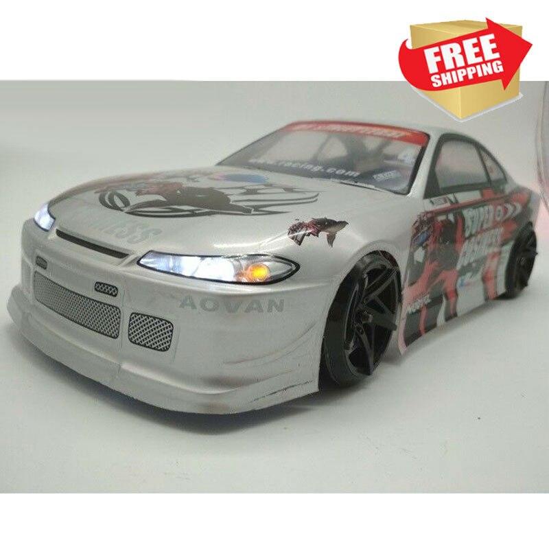 Modèle de voiture RC dérive voiture RC lumière LED pour 1:10 Nissan Silvia S15 pièces de mise à niveau de carrosserie