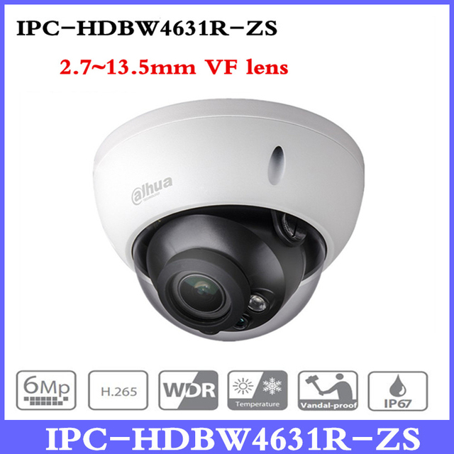 DH Motorized Zoom Camera IPC-HDBW4631R-ZS Day Night CCTV IP Camera 30M IR Range Vari-Focus Network Camera H.265 6mp Camera