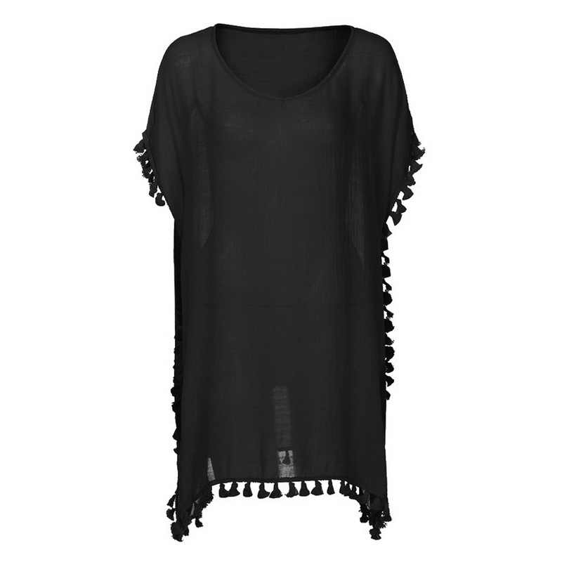 2019 Baru Chiffon Jumbai Pantai Wanita Pakaian Renang Menutupi Baju Renang Pakaian Renang Musim Panas Mini Gaun Longgar Pareo Cover lebih Tinggi