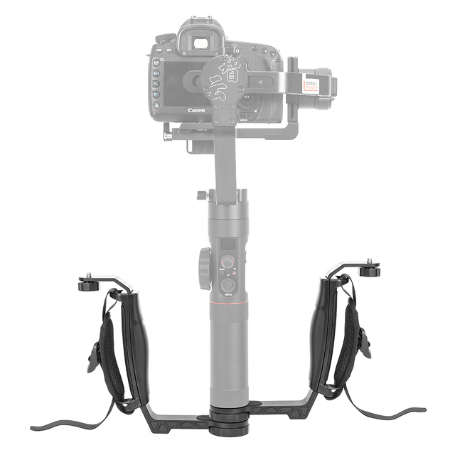 ZHIYUN grue officielle 2 accessoires de cardan Kit poignée poignée L support TransMount Mini double poignée pour lumière LED/Microphone/moniteur