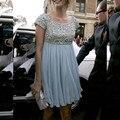 2016 Nuevos Atractivos Del Verano Cielo Azul Vestido de Maternidad Mini Rebordeó el vestido Corto Vestido de Cóctel Vestidos de Fiesta robe de cóctel Personalizar