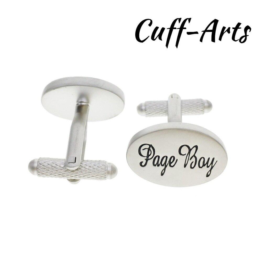 Cuffarts 2018 Cufflinks 1 Pair Novelty Wedding Page Boy Cuff Links Vintage Silver Men Jewelry Cufflinks Wedding Gift C10100 in Tie Clips Cufflinks from Jewelry Accessories