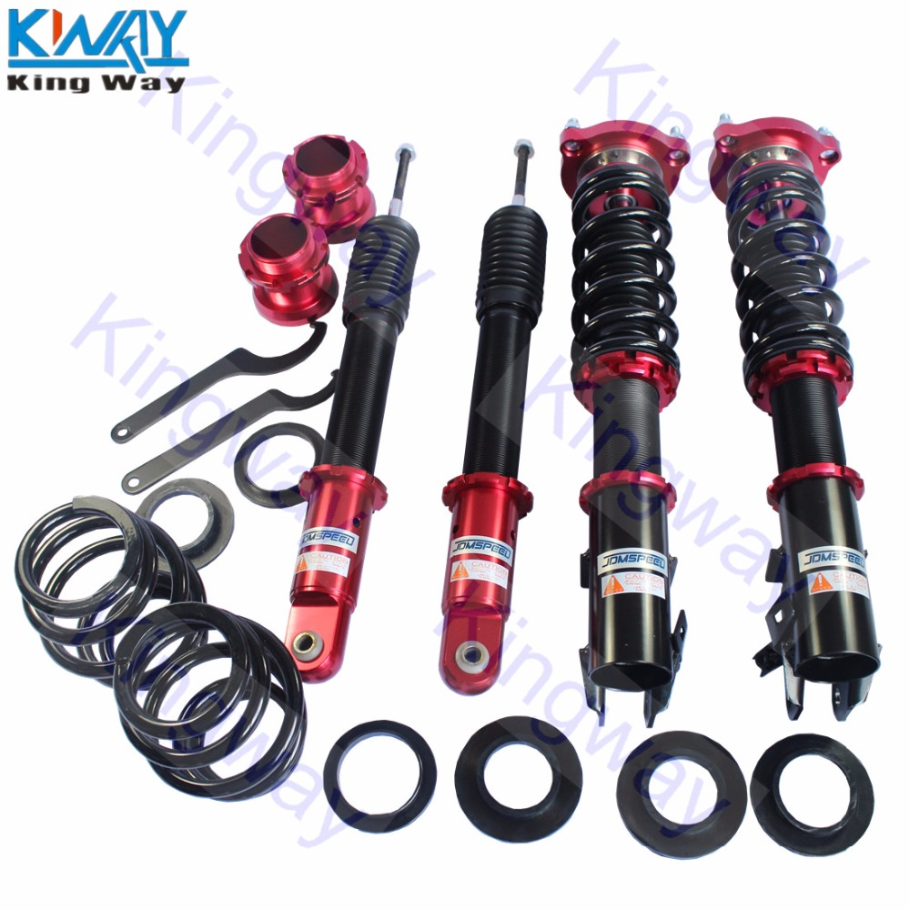 New Coilover Kits For Honda Accord 1990-97 Shock Absorbers Adj Height Red