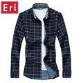 Shirts Verifique Casual Camisa Xadrez de Manga Longa masculina Sping Outono inverno Plus Size 5XL 6XL 7XL Negócio Camisas dos homens Sociais X463