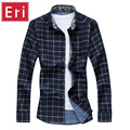 Sping Men's Shirts Check Casual Long Sleeve Plaid Shirt Autumn Winter Plus Size 5XL 6XL 7XL Business Social Men's Shirts X463