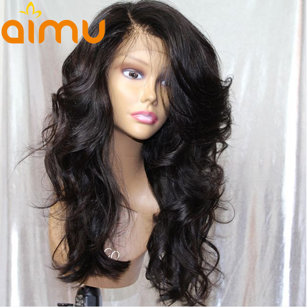 Aimu 250 Density Lace Front Human Hair Wigs With Baby Hair Loose Wave 13X6 Pre Plucked