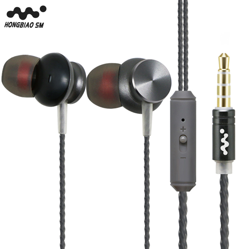 Original HONGBIAO SM Q2 Earphone In Ear Metal Earphones With Microphone Universal HIFI Headset Pearl Wire Control Bass Earplugs original senfer dt2 ie800 dynamic with 2ba hybrid drive in ear earphone ceramic hifi earphone earbuds with mmcx interface