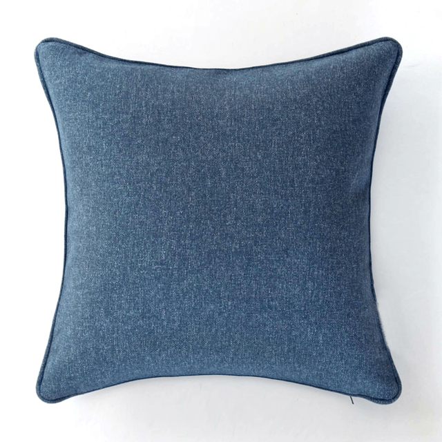 Nordic Style Royal Blue Cushion Cover Pillow Case Sofa Chair Home Decor Without Stuffing