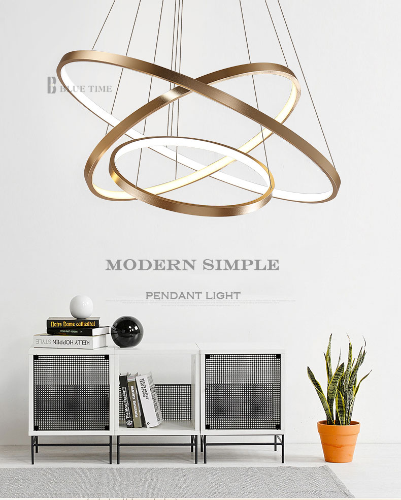 HTB1Rb3WciOYBuNjSsD4q6zSkFXaH Modern Home LED Ceiling Light For Living room Dining room Kitchen Lustre 6Ring 5Rings Hanging Lamp Ceiling Lamp Lighting Fixture
