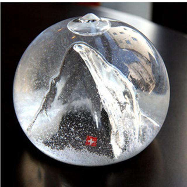 Marvelous 1PCS Free Shipping Snowball Glass Ball Swiss Alps Mountain Snow Crystal  Ball Ornaments Design Ideas