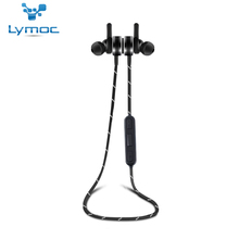Cheaper LYMOC Metal Bluetooth Earphone Magnetic Switch Sport Wireless Headsets Stereo Running Gym Music CSR4.1 Handsfree for All Phone