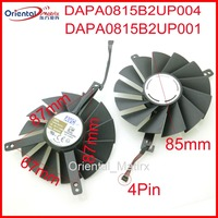 DAPA0815B2UP001 DAPA0815B2UP004 12V 0.6A 85mm GPU Fan For NVIDIA RTX 2070 RTX2080 RTX2080ti Graphics Card Cooling Fan