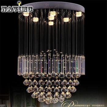 FÜHRTE Unterputz Moderne Glanzmittel Kristall Kronleuchter Leuchten Dia60 *  H100cm Foyer Lichter Große Spirale Lampe Für