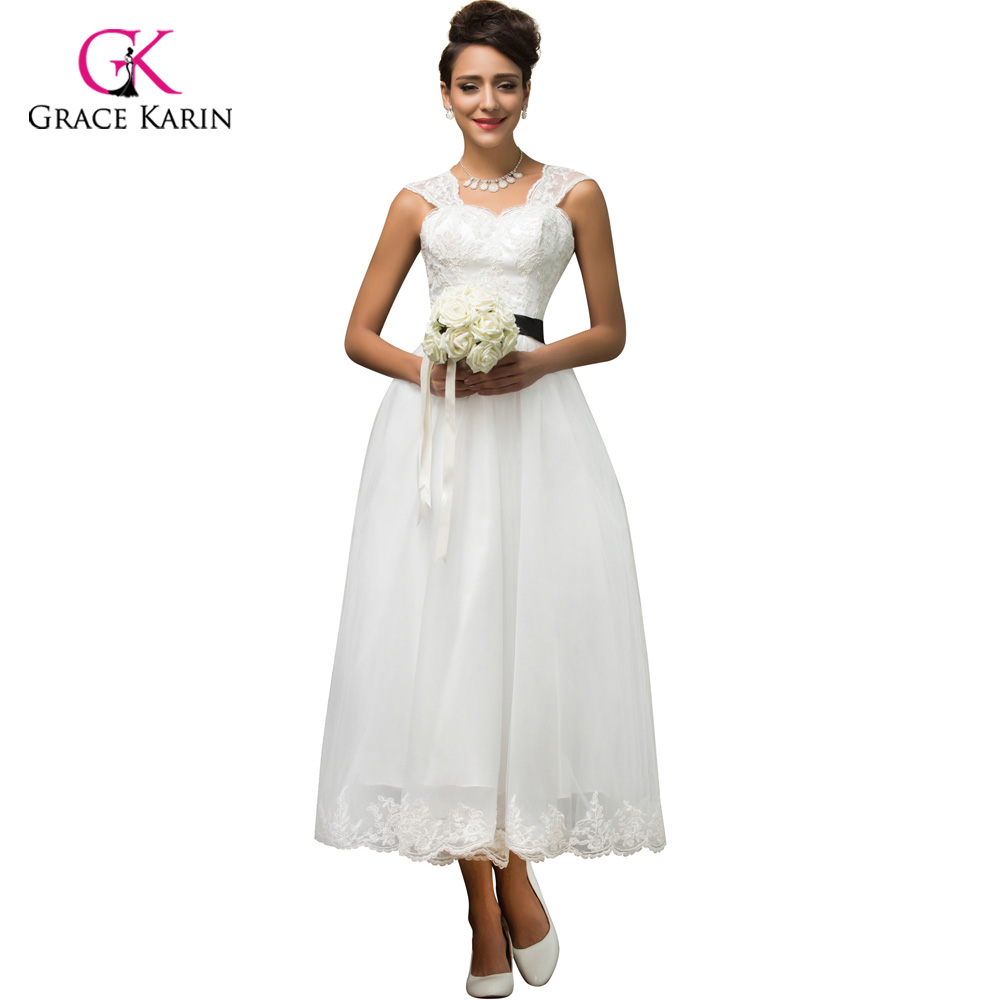 Grace Karin White long cheap bridesmaid dresses under 50, elegant ...