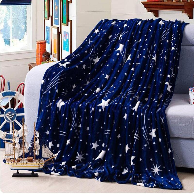 安い200×230センチ高密度スーパーソフトクリスマスフリース冬毛布用ソファベッドテキスタイル大人の星毛布用ベッド