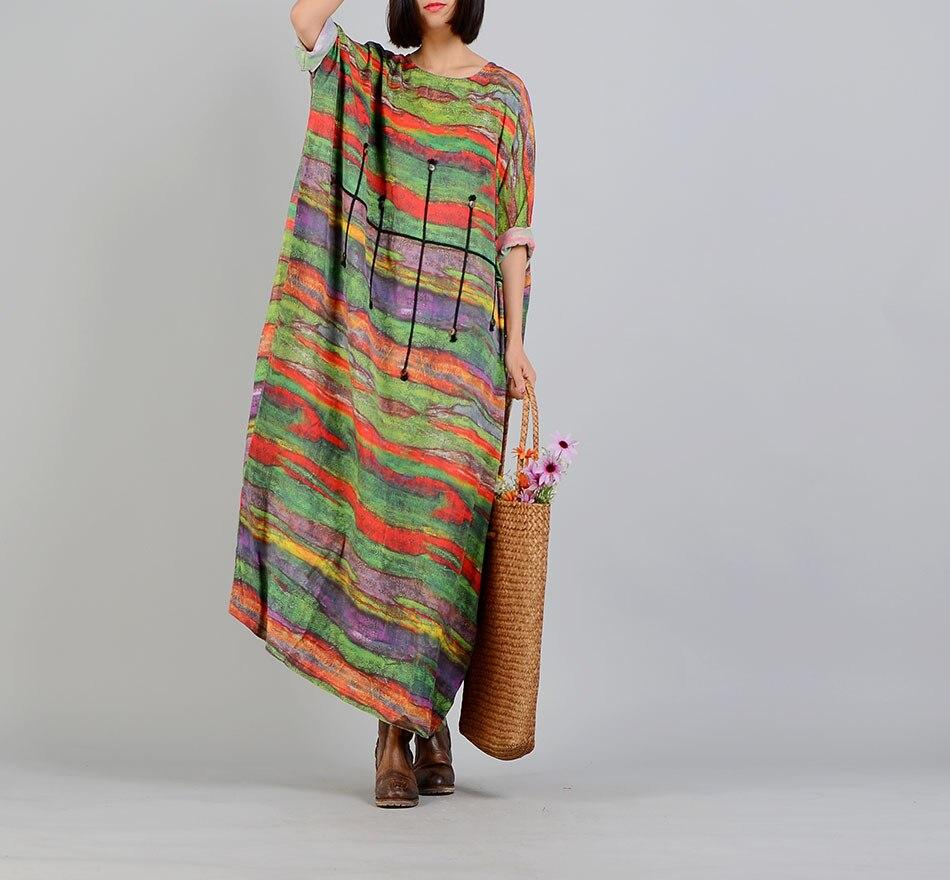 frauen fledermaus Ärmel gestreiften bunte kleid damen freizeit-flügel print  kleid weibliche retro kleid stripes kleid