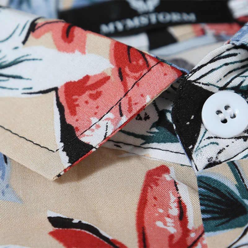 ZOGAA 2019 Мужская Летняя Пляжная гавайская рубашка бренд короткий рукав плюс размер цветочные рубашки мужская повседневная праздничная одежда для отдыха