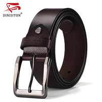 DINISITON Newest Designer Belts For Men High Quality Cow Genuine Leather Belt Vintage Pin Buckle Male