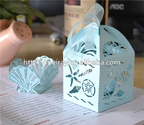 100pcs Lot Laser Cut Favor Bo For Wedding White Sea Shell