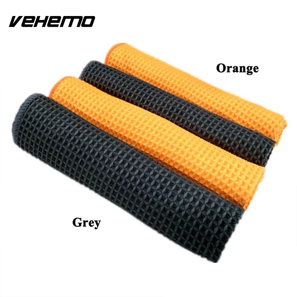 VEHEMO 40x40cm Furniture Window Microfiber Towel Soft Car Cleaning Wash Car Cellular Weave Towels Kitchen