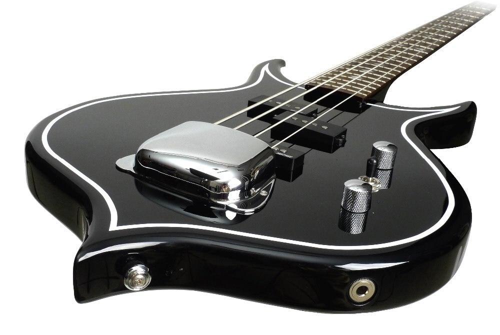 Gene Simmons Punisher Électrique Basse Guitare Corps Acajou Manche Érable Touche Palissandre