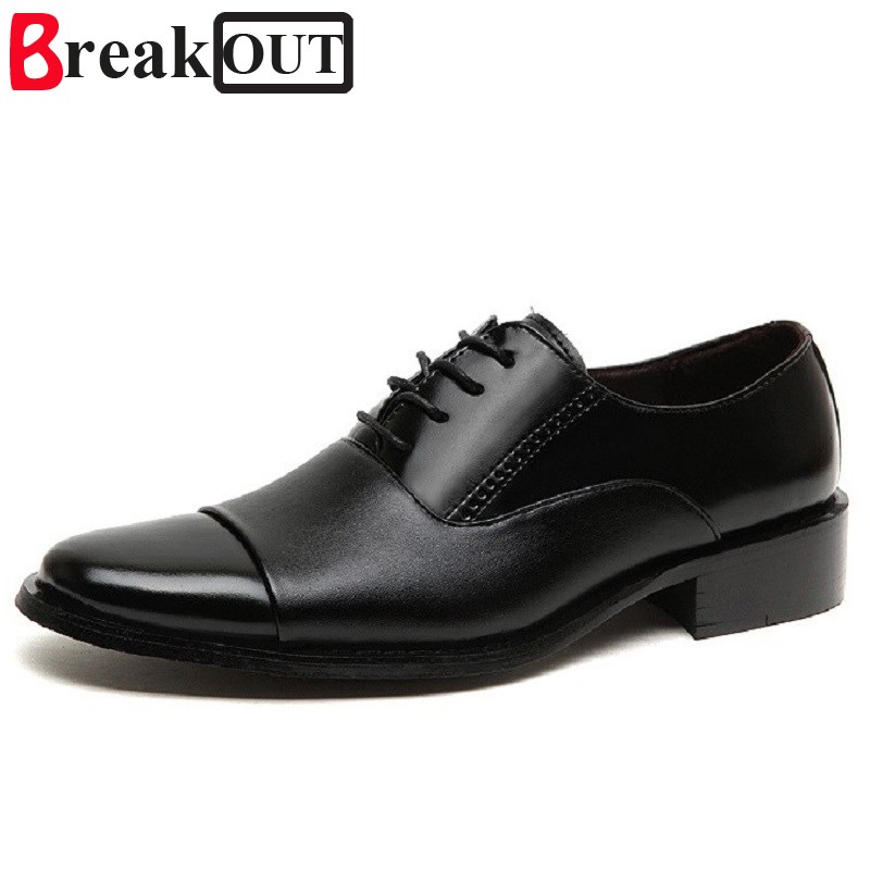 Break Out new men shoes for men leather business dress shoes summer style men oxfords Large Size 45 46 47