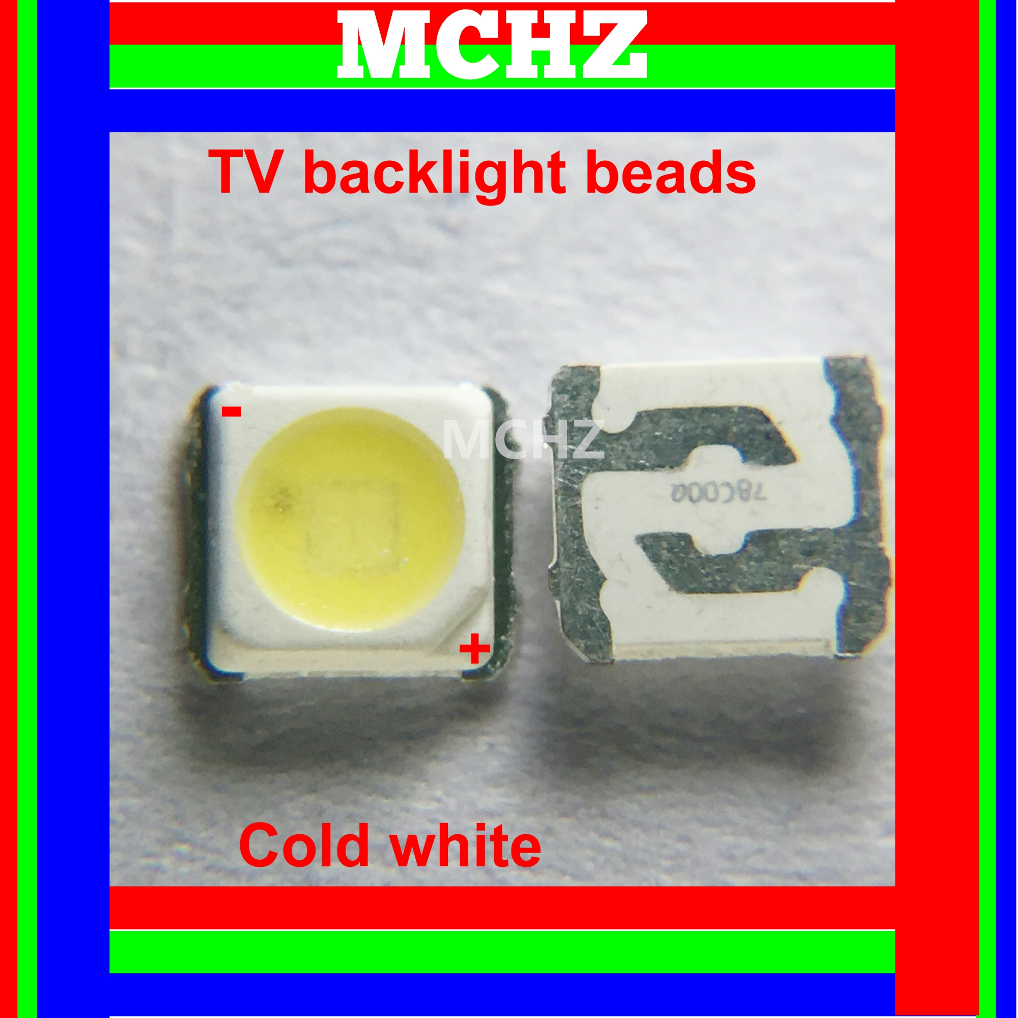 50PCS Samsung 3228 2828 LED SMD TV Backlight 3V 2W 700ma LED Beads Cool White For Samsung SPBWH1320S1EVC1B1B Free Shipping in Light Beads from Lights Lighting