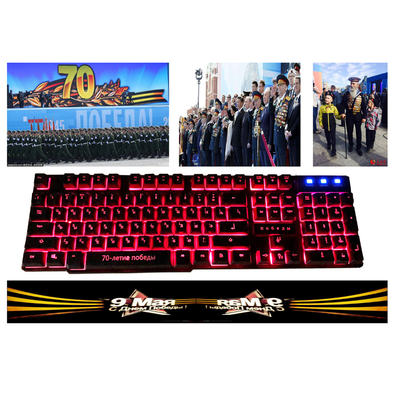 Desktop Keyboard Game Keyboard Change 3 Color light breathing 19-Key conflict free software birthday gift education victory 1945
