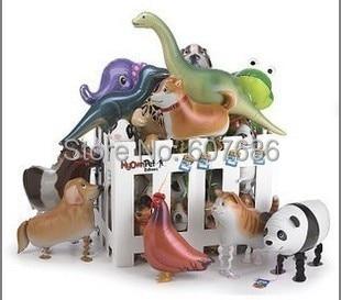 100 חתיכות חיות המחמד שלי מסיבת יום הולדת מעורב הליכה חיות מחמד בלונים בעלי חיים לסכל בלון מיילר עם הרצועה הליום בלון מסיבת ילדים