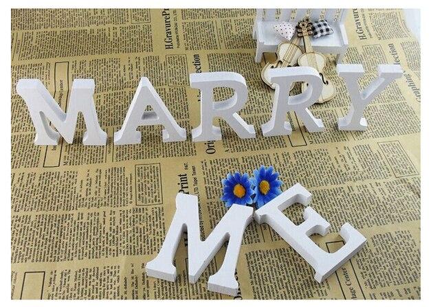 Lettere Di Legno Ikea : Alta qualità decorazioni di nozze lettere di legno bianco legno