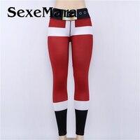 2017 New Christmas Pants Girl Fashion Autumn Women Slim Long Pants Female Women Casual Elastic Pencil