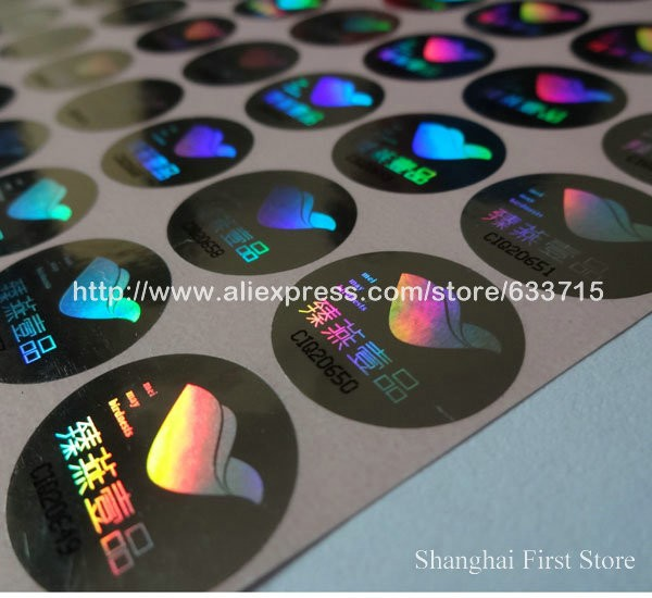 Custom anti fake hologram printed running serial number security holographic sticker hologram