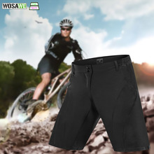 WOSAWE Mens Cycling Shorts Downhill Black Road MTB Mountain Bike Breathable Loose Fit Riding Sports Running