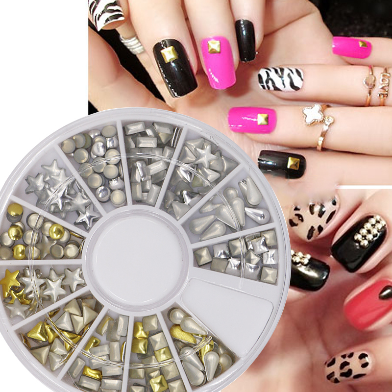 New Stylish Nail Art Decoration Silver And Gold Nail Rivet With