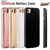 IN ALL 5000 mAh Battery Case For iPhone 7 Plus Charger Cover For iPhone 7 Plus Metal Frame Funda Chargable Backup Power Bank