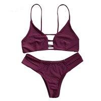 CharMma 2017 New Sexy Micro Bikinis Women Swimsuit Swimwear Halter Brazilian Bikini Set Beach Bathing Suits